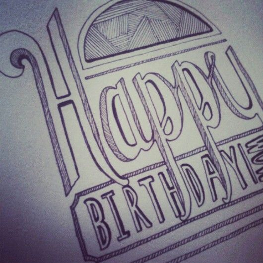 Hand drawn Birthday Card – Birthday Card Drawing Ideas