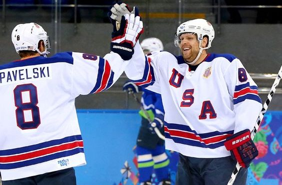 U.S. hockey team avoids Olympic letdown, lets loose on Slovenia