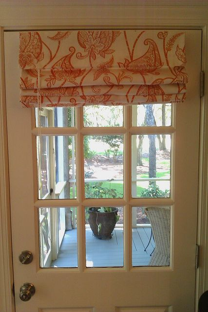 Roman Shade Window Treatment For The Patio Door