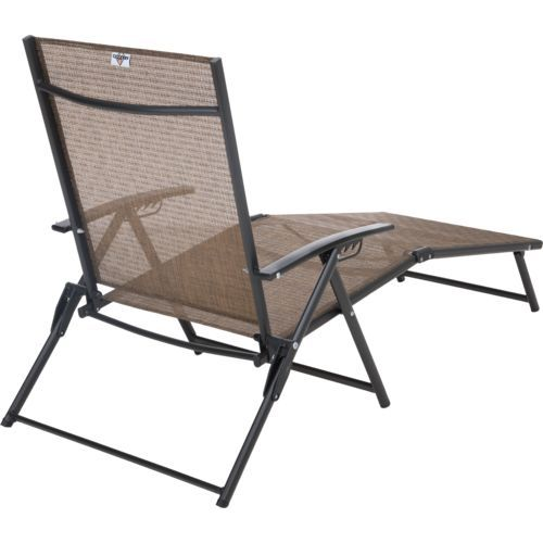 Mosaic Folding Sling Chaise Lounge Academy Beabsichtigt Fur Die
