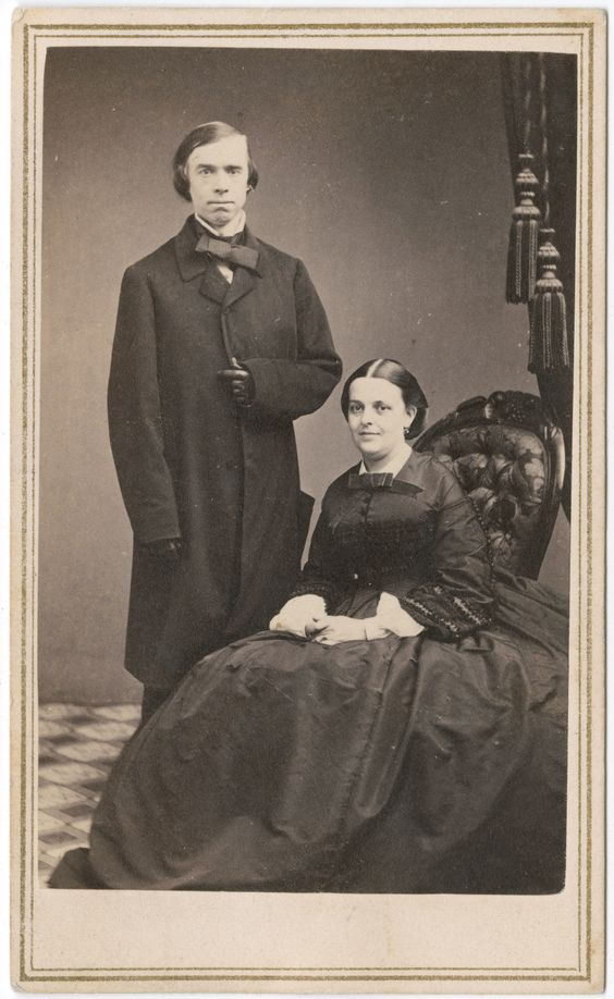 "Reverend Thomas Starr King and his wife. King, the popular Unitarian minister in San Francisco, gave dozens of passionate and eloquent talks on the need to preserve the union and end slavery.  He was credited with ""saving California for the Union."""