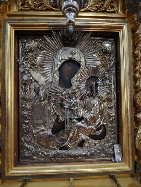 The Weeping Tikhvin icon of the Mother of God