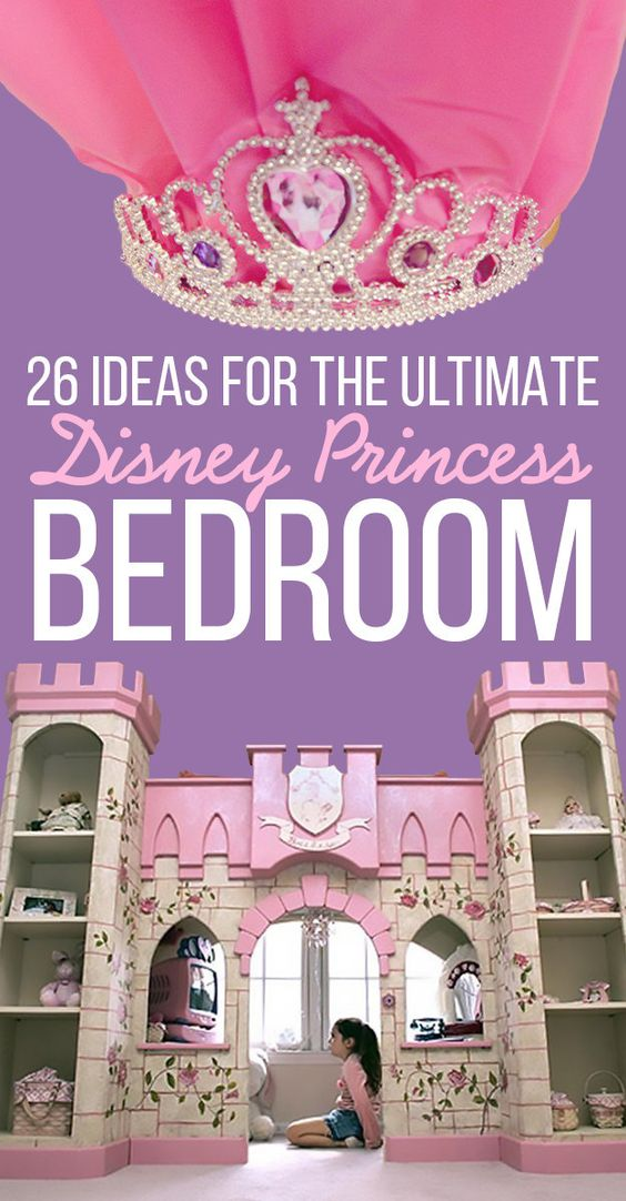 26 Ideas For The Ultimate Disney Princess Bedroom - in case Peach turns out to be a little princess..