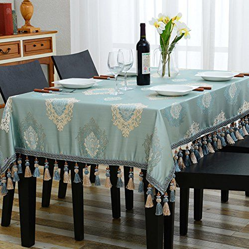 European Style Modern Dining Table Cloth Simple Rectangular Pasta Coffee Cloth A 140x140cm 55x55in Dining Table Cloth Rectangle Living Room Modern Dining Table