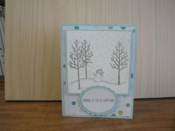 After making this card we had glitter everywhere, it turned out looking very sparkly.  We can never have to much glitter.