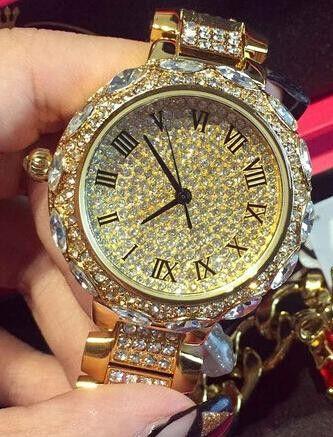 Mashali Full Rhinestone Roman Wristwatch