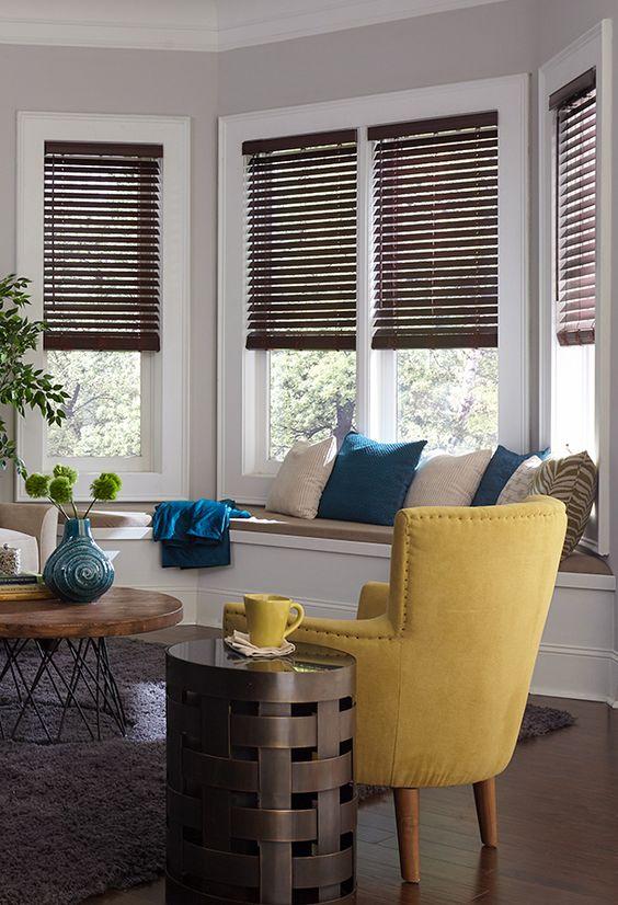 Blinds.com Premium Faux Wood Blind in Mahogany