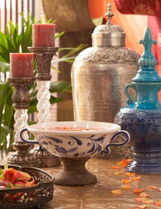 This collection carries many of her perosnal influences with Tuscan and Spanish accents