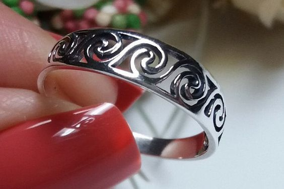 Sterling Silver 925 Celtic Ring by VictorianArtJewelers on Etsy