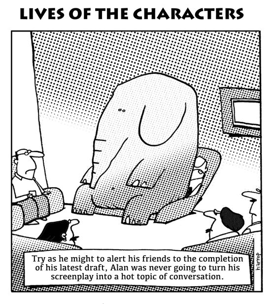 Cast not your tusks before acquaitances