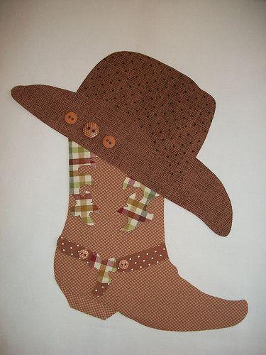 Aplicação Bota e chapéu   Ka Comelli   Flickr