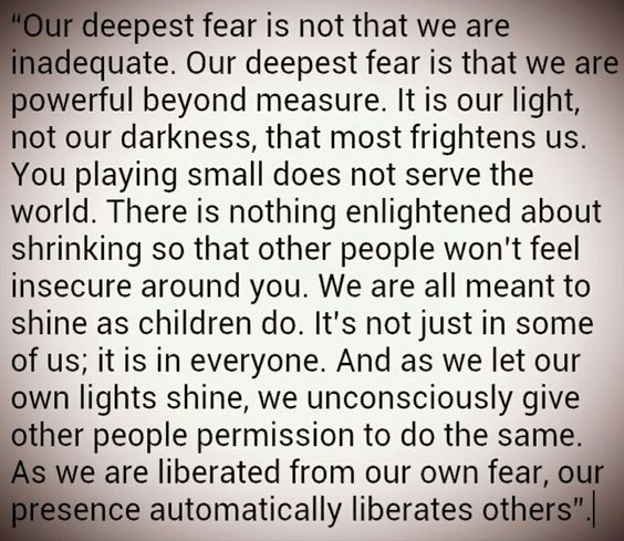 Fear quote from the movie coach carter.