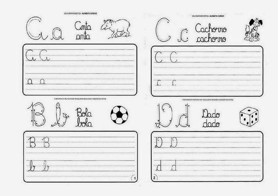 """""""EDUCAR PARA A VIDA"""": Atividades com Letra Cursiva."""