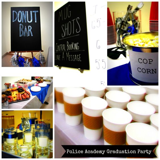 24 hours and dollar store resources - James'  Police Academy Graduation Party.