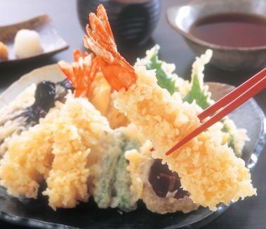 飯テロ・天ぷらセット