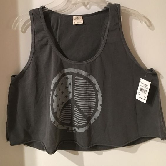 Peace sign tank top Short tank top, your stomach will be exposed! Great for going to the beach! O'Neill Tops Tank Tops