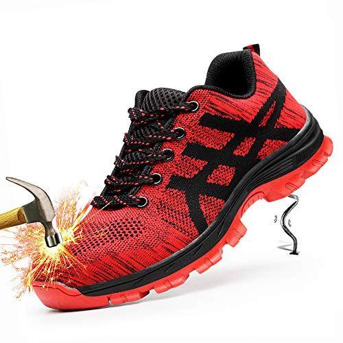 SaiCou Unisex Steel Toe Work Shoes