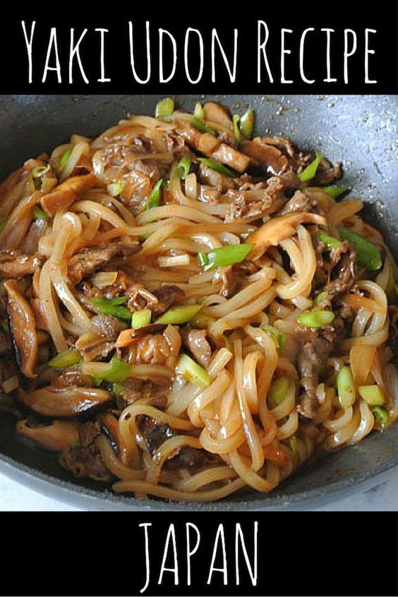 Yaki Udon Japanese noodles recipe - Nomadic Boys