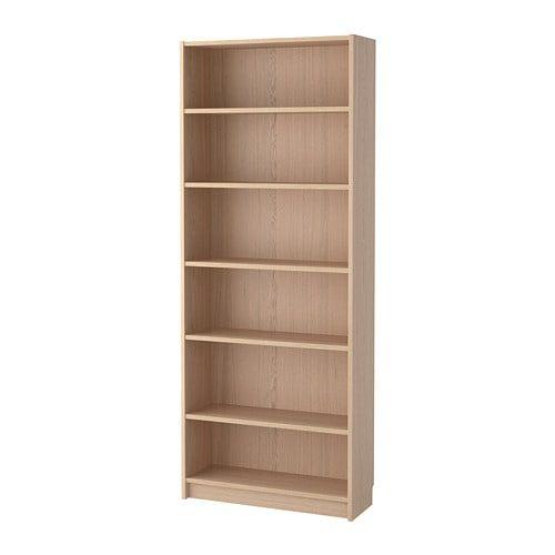 Billy Bookcase White Stained Oak Veneer 80x28x202 Cm White Bookcase Billy Bookcase Ikea Bookcase