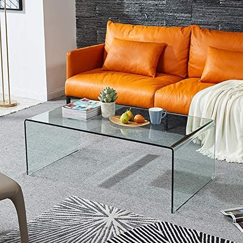 1 2 Inch Thicken Tempered Glass Coffee Tables Modern Decor Clear Coffee Table For Living Room Coffee Table Living Room Table Living Room Table Sets