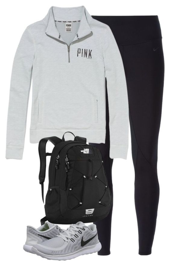"""""""2 days of school this week"""" by keileeen ❤ liked on Polyvore featuring NIKE, Victoria's Secret, The North Face, women's clothing, women's fashion, women, female, woman, misses and juniors"""