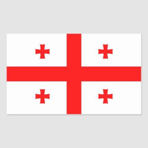 Georgia Georgian Flag Rectangular Sticker Zazzle Com Georgian Flag Custom Stickers Red And White Flag