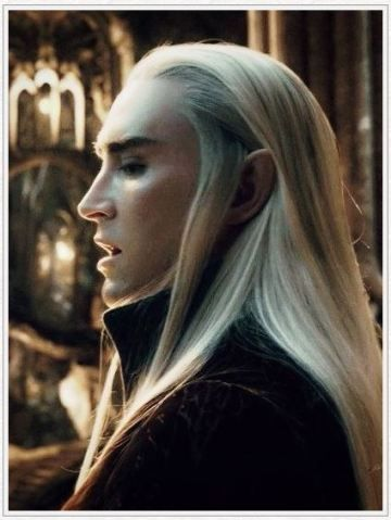 Thranduil --- the most elegant & beautiful, sexiest platinum blonde ever....