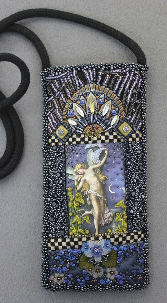 Sunglasses case embroidery and beads on pinterest