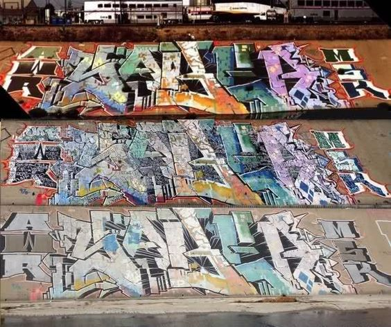 Ja graffiti piece
