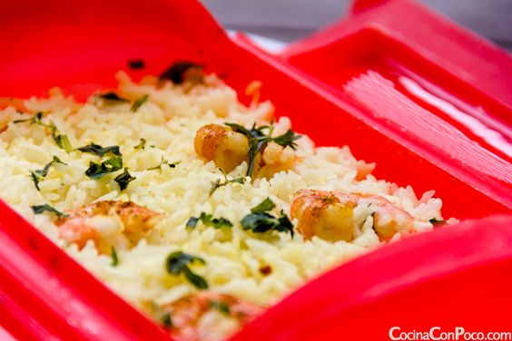 Arroz con curry y gambas - Vaporera Lekue - Receta al Vapor - Recetas paso a paso con fotos - Cocina Con Poco