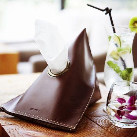 【包邮】Duneyr 杜捏尔牛皮纸巾盒(深红/KSE01-00031BL)