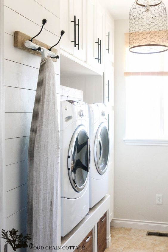 Favorite Laundry Rooms On Pinterest And Still Undecided Beneath My Heart Modern Laundry Rooms Rustic Laundry Rooms Laundry Mud Room