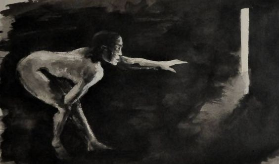 "Saatchi Art Artist Melania Barbulescu; Drawing, ""Follow the light"" #art"