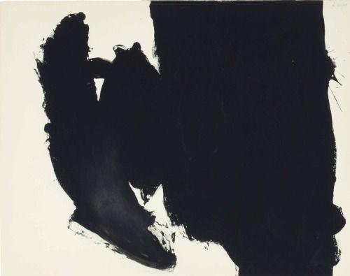 "thunderstruck9: ""Robert Motherwell (American, 1915-1991), Sin título (Elegy), 1960. temple sobre Strathmore cartón, 23 x 29 pulg."""