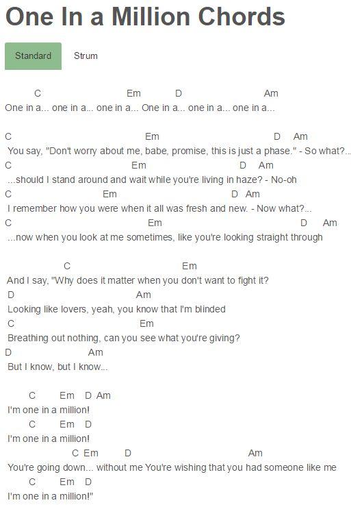 one u2 chords pdf