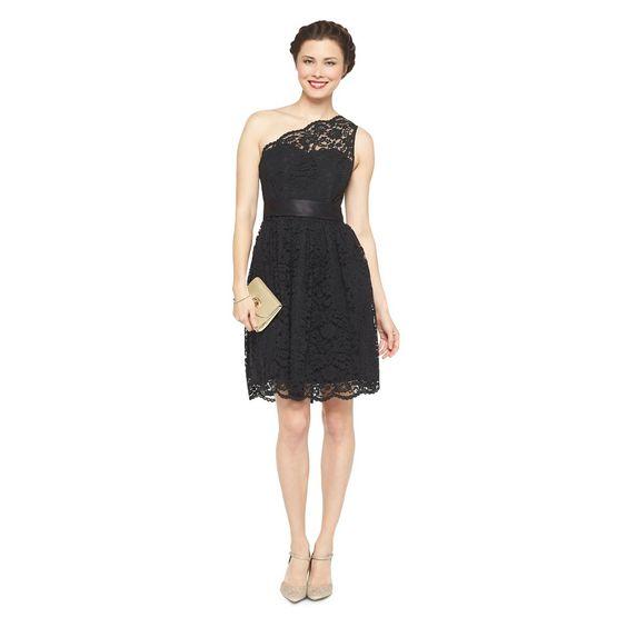 Women's Scalloped Lace One-Shoulder Bridesmaid Dress - TEVOLIO™