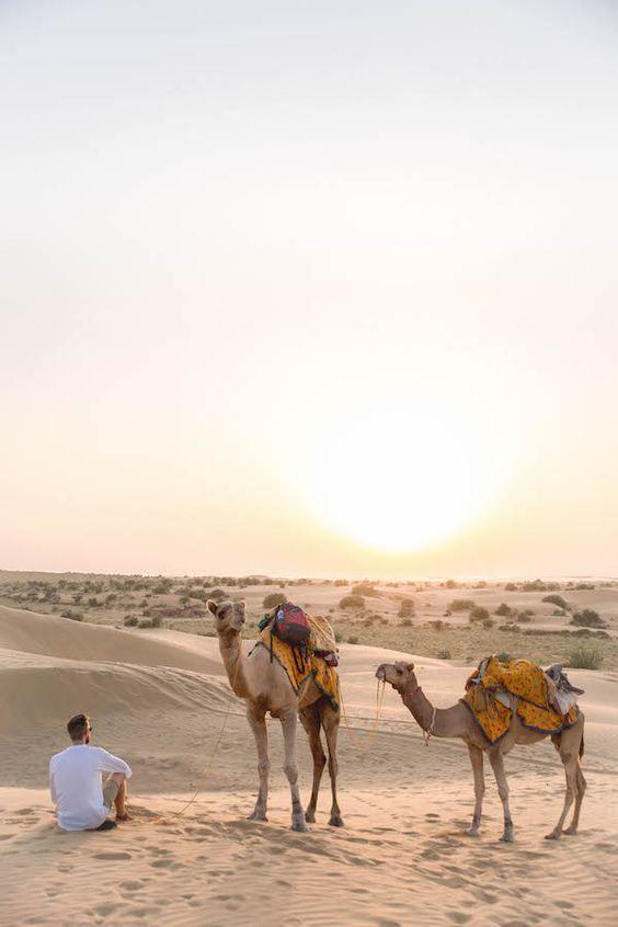 The Desert Landscape In Jaisalmer