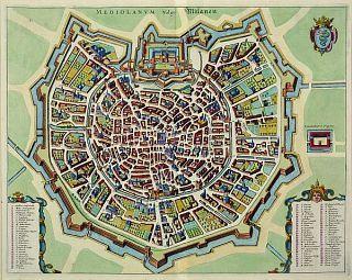 Mediolanum vulgo Milanen Autore: J. Jansonius Epoca: 1658