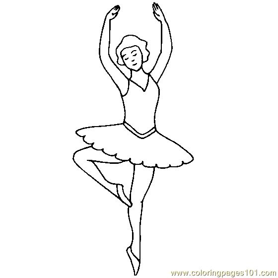 ballerina coloring pages printable free printable coloring page ballet dancer cartoons others - Ballerina Printable Coloring Pages