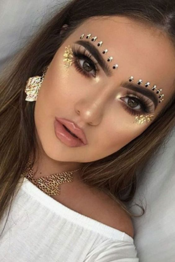 Line your brows with gems