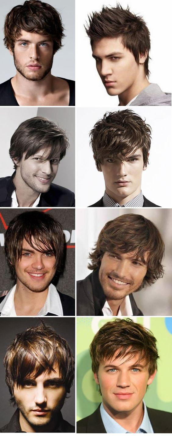 cabelo médio masculino.