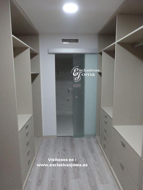 Realizaci n de armario vestidor de 14m2 en habitaci n - Tiradores de armarios ...