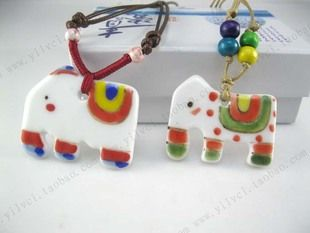 Cute elephant ceramic hand-painted jewelry, cheap fashion jewelry ,shop at www.costwe.com