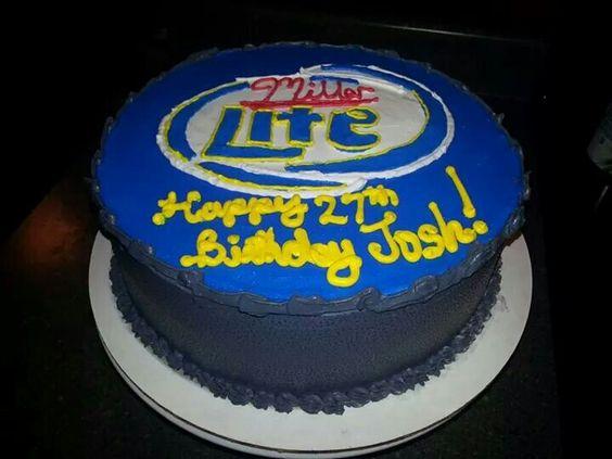 Miller Lite Cake Design