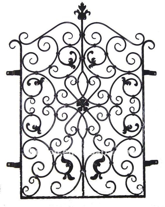 Decoration wrought iron window grill iron window guard for Window scroll function