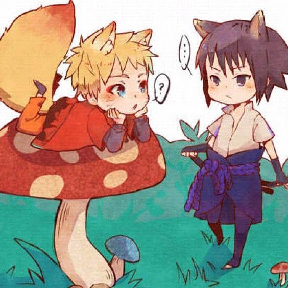 Naruto and Sasuke ♡ | Naruto | Pinterest | Cats, Chibi and ...  Sasuke As A Cat