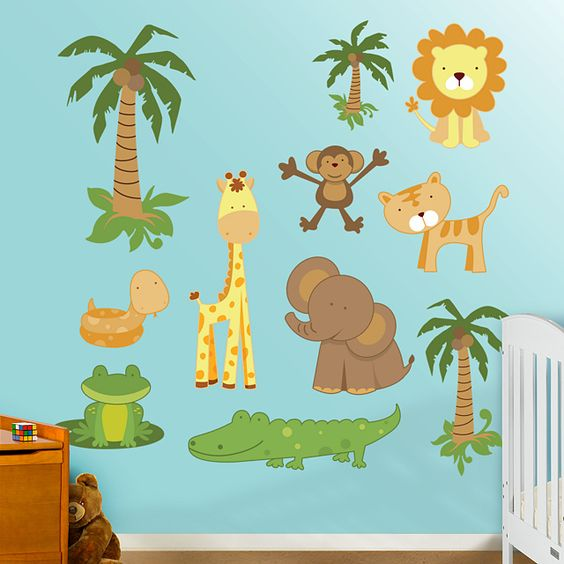 Nursery safari from @Fathead! Get $50 to spend on wall graphics for $25 on livingsocial.com