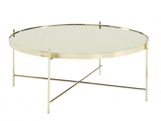 Table Basse Marcia Miroir Metal Dore Table Basse Ronde Table Basse Miroir Table Basse
