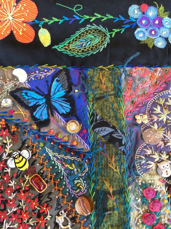 Butterfly and border detail by Robyn Ginn