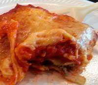 Weeknight Ravioli  1 26 oz jar pasta sauce 1 package frozen ravioli (I used meat filled) 2 cups shredded mozzarella shredded parmesan  Click Here for the full recipe:  http://www.q99fm.com/BreakfastClub/FDT2014.aspx